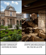 CARNAVALET - CRYPTE - CATACOMBES
