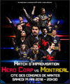 Réservation HERO CORP VS MONTREAL